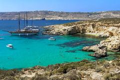 Malta - Comino, Blue Lagoon Stock Photos