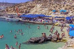 Malta, Comino, Blue Lagoon Royalty Free Stock Photography