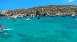 Malta - Comino, Blue Lagoon Stock Images