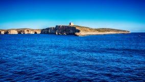 Malta: Comino, Maltese: Kemmuna, a small island of the Maltese Archipelago. Between the islands of Malta and Gozo in the Mediterranean Sea Royalty Free Stock Image