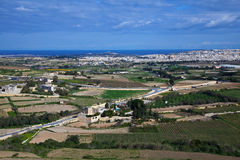 Malta country area. Top view of ordinary Malta country area Stock Photography