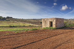 Malta Countryside. A typical Maltese dwejra meaning little house. These are found in many agricultural fields and date back to hundreds of years ago Royalty Free Stock Images