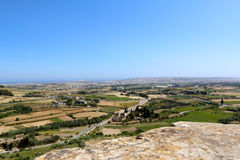 Malta countryside landscape from above Stock Photos