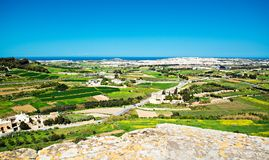 Malta Countryside  landscape Stock Photography