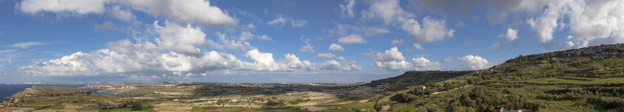 Malta Countryside View. A typical Mediterranean view of the beautiful Malta coast and countryside Stock Photos
