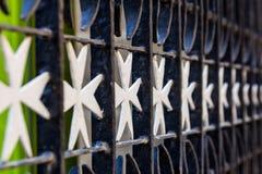 Malta cross gate Stock Photo