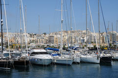 Malta, de schilderachtige baai van Valletta Stock Afbeelding