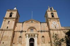 Malta, de schilderachtige stad van Valletta Stock Afbeeldingen