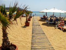 Malta in de zomer stock foto
