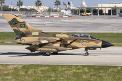 Malta, 14 December, 2007: Saoedi-arabische Tornado stock foto