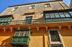 Malta den pittoreska staden av Valletta Royaltyfria Bilder