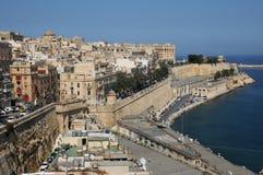 Malta den pittoreska staden av Valletta Arkivbild