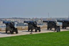 Malta den pittoreska staden av Valletta Arkivfoton
