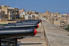 Malta den pittoreska staden av Valletta Arkivfoto