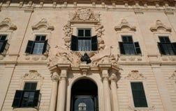 Malta den pittoreska staden av Valletta Arkivbilder
