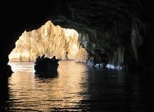 Malta, der malerische Standort der blauen Grotte Stockbild