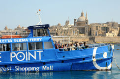 Malta, die malerische Bucht von Valletta Stockbild