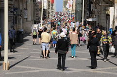 Malta, die malerische Stadt von Valletta Lizenzfreie Stockfotos