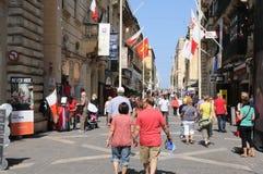 Malta, die malerische Stadt von Valletta Lizenzfreies Stockbild