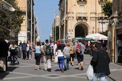 Malta, die malerische Stadt von Valletta Stockfotografie