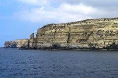 Malta Dingli klippor Royaltyfria Bilder