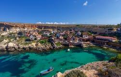 malta Dorf Popeye Stockfotos