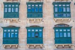 Malta Drewniany balkon zdjęcie royalty free