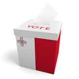 Malta election ballot box for collecting votes. Rendered in 3D and isolated on a white background Royalty Free Stock Photography
