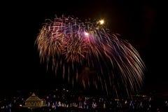 Malta fajerwerków pokaz obraz royalty free