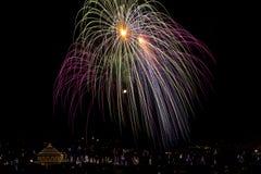 Malta fajerwerków pokaz zdjęcia royalty free