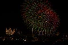Malta fajerwerków pokaz zdjęcie stock