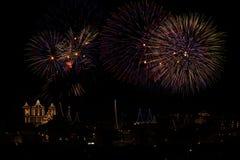 Malta fajerwerków pokaz obrazy royalty free