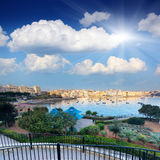 Malta. Fantastic city landscape on the seaside with boats. Malta, Europe Royalty Free Stock Photos