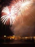 Malta-Feuerwerk-Festival nachts 2010 (B) Stockfotografie