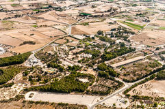 Malta - fields and meadows. Malta - countryside from aircraft, fields and meadows Royalty Free Stock Images