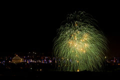 Malta Fireworks display. Pyrotechnics display for the feast of Our Lady, celebrated on the 15th August in many villages in Malta. This is the fireworks display Stock Image