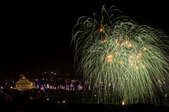 Malta Fireworks display. Pyrotechnics display for the feast of Our Lady, celebrated on the 15th August in many villages in Malta. This is the fireworks display Royalty Free Stock Images