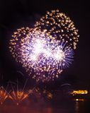 Malta Fireworks Festival. Beautiful, colorful lights in the night sky Stock Photo