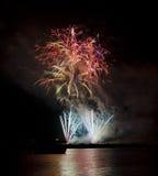 Malta Fireworks Festival. Fireworks display for the Malta Fireworks Festival in Marsaxlokk Royalty Free Stock Photo