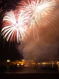 Malta Fireworks Festival at night 2010(b). Some of the fireworks shot at the Malta Fireworks Festival at night 2010 Stock Photography