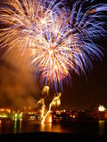 Malta Fireworks Festival at night 2010 (c). Malta Fireworks Festival at night grand harbour 2010 Stock Photo