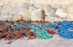 Malta, fishermen ropes Royalty Free Stock Photos