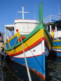 Malta fishing boat. Typical fishing boat (luzzo) in Malta royalty free stock photography