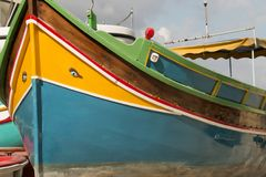 Malta fishing boat. A luzzu is a traditional fishing boat from the Maltese islands Royalty Free Stock Photos