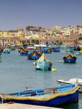 Malta Fishing Harbour Royalty Free Stock Photos