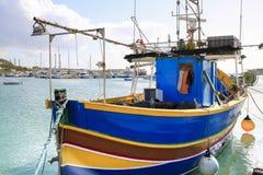 Malta fiskebåt royaltyfria bilder