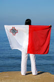 Malta flag Stock Photo