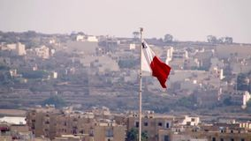 Malta flag close up stock video footage