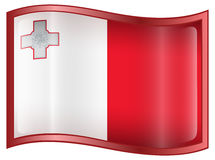 Malta Flag icon Stock Photo