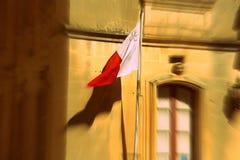 Malta flag waving on the wind. Malta national flag waving on the wind Stock Photography